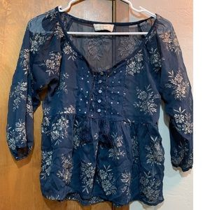 Abercrombie sheer blue top